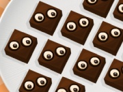 Halloween Cooking Googly Eyes Brownies